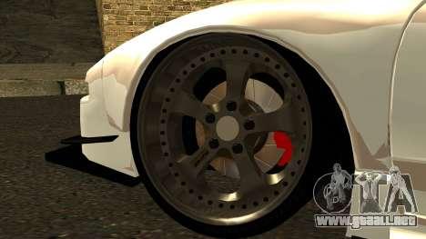 Honda NSX Street Killer para GTA San Andreas vista posterior izquierda