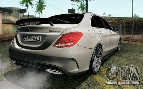 Mercedes-Benz C250 AMG Brabus Biturbo Edition EU para GTA San Andreas left