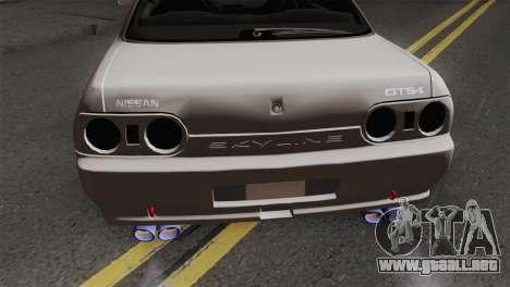 Nissan Skyline R32 Drift JDM para GTA San Andreas vista hacia atrás