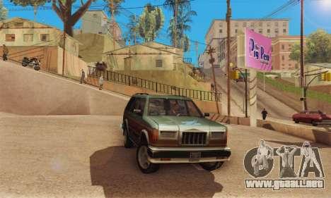 ENB Series v4.0 Final para GTA San Andreas sucesivamente de pantalla