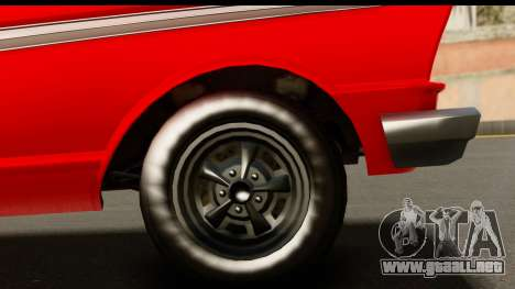 GTA 5 Vapid Blade v2 para GTA San Andreas vista hacia atrás