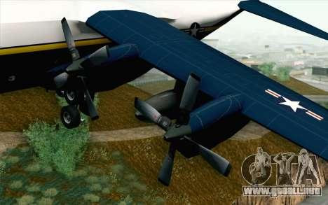 C-130H Hercules Blue Angels para la visión correcta GTA San Andreas