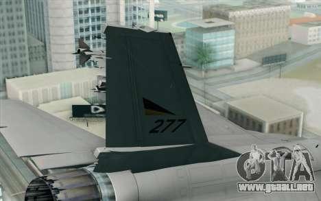 F-16 Fighting Falcon RNoAF PJ para GTA San Andreas vista posterior izquierda