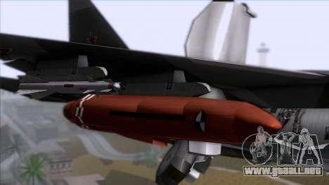 Sukhoi T-50 PAK FA Akula with Trinity para GTA San Andreas vista hacia atrás
