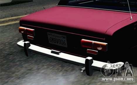 VAZ 2101 Lowrider para GTA San Andreas vista hacia atrás