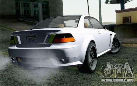 GTA 5 Ubermacht Sentinel XS para GTA San Andreas left