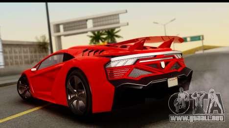 GTA 5 Pegassi Zentorno Zen Edition para GTA San Andreas left