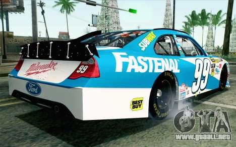 NASCAR Ford Fusion 2012 Plate Track para GTA San Andreas left