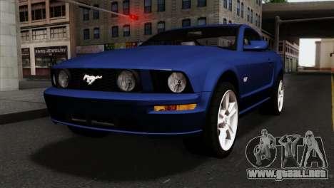 Ford Mustang GT PJ Wheels 1 para GTA San Andreas
