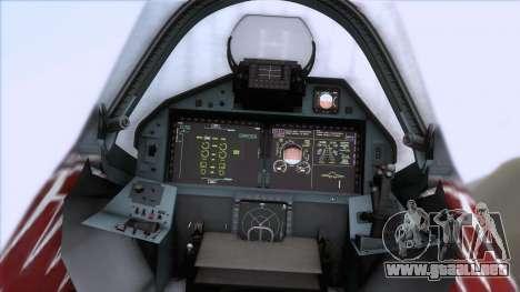 Sukhoi T-50 PAK FA Akula para GTA San Andreas vista hacia atrás