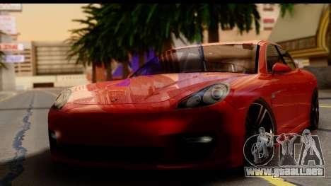 Porsche Panamera Turbo para GTA San Andreas vista posterior izquierda
