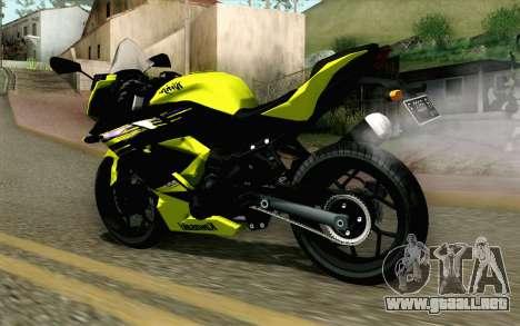 Kawasaki Ninja 250RR Mono Yellow para GTA San Andreas left