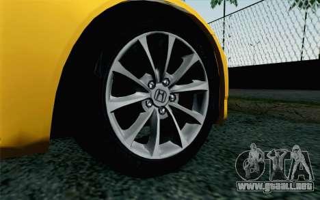 Honda S2000 Cabrio para GTA San Andreas vista posterior izquierda
