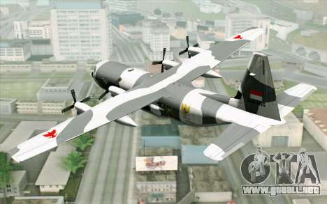 Lockheed C-130 Hercules Indonesian Air Force para GTA San Andreas left