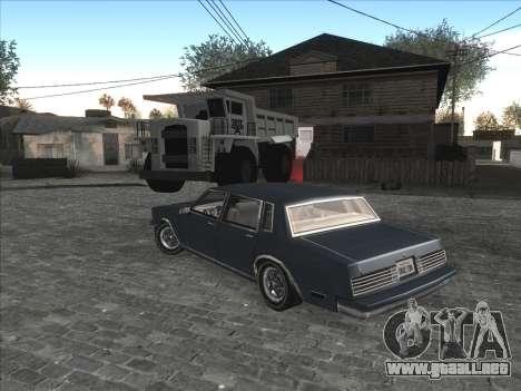 Coche Personal de CJ en Grove Street para GTA San Andreas sucesivamente de pantalla
