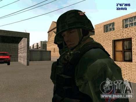 Guerrero batallón de Oriente para GTA San Andreas tercera pantalla