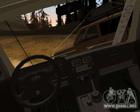 VAZ 2131 Niva 5D OffRoad para la vista superior GTA San Andreas