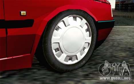Peugeot 405 Tuning para GTA San Andreas vista posterior izquierda