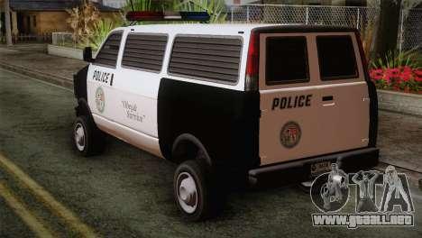 GTA 5 Police Transporter para GTA San Andreas left
