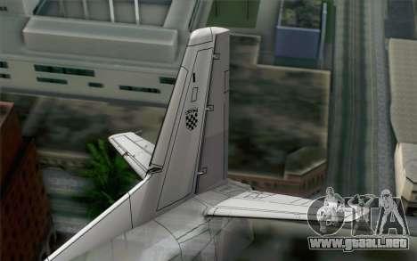 AN-32B Croatian Air Force Closed para GTA San Andreas vista posterior izquierda