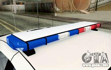 Chevy Caprice SAHP SAPD Highway Patrol v1 para GTA San Andreas vista posterior izquierda