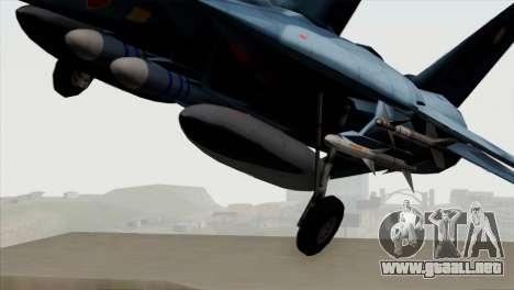 F-14 Japan Air Self Defense Force para GTA San Andreas vista hacia atrás