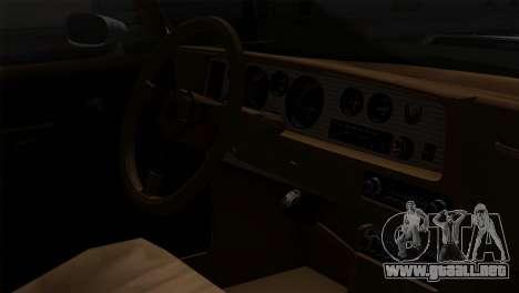 Pontiac Trans AM Interior para GTA San Andreas vista hacia atrás