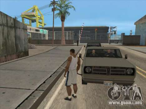 A los Rusos en el distrito Comercial para GTA San Andreas sucesivamente de pantalla