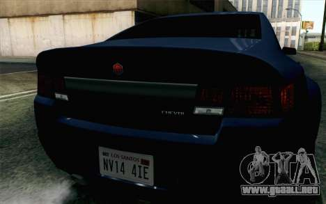 GTA 5 Cheval Fugitive HQLM para GTA San Andreas vista hacia atrás