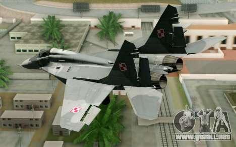 MIG-29 Polish Air Force para GTA San Andreas left