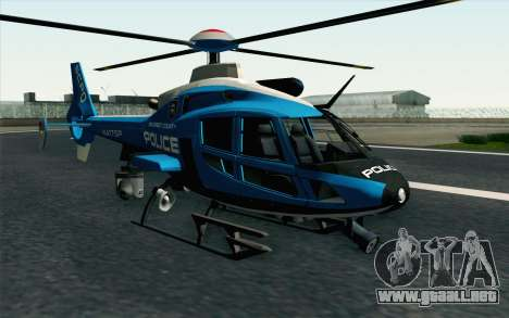 NFS HP 2010 Police Helicopter LVL 2 para GTA San Andreas