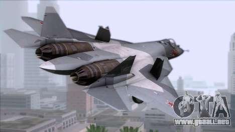 Sukhoi T-50 PAK FA Akula para GTA San Andreas left