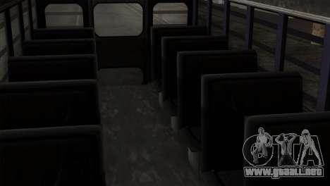 GTA 4 TLaD Prison Bus para GTA San Andreas vista hacia atrás