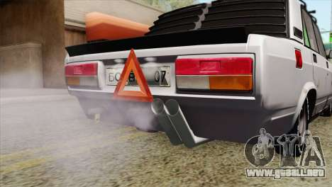VAZ 2107 A.C. para GTA San Andreas vista hacia atrás