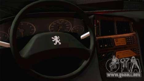 Peugeot Pars para GTA San Andreas vista posterior izquierda