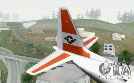 C-130H Hercules Coast Guard para GTA San Andreas vista posterior izquierda