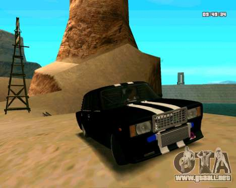 VAZ 2107 CALAMBRES para vista lateral GTA San Andreas