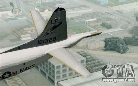 Lockheed P-3 Orion VP-11 US Navy para GTA San Andreas vista posterior izquierda