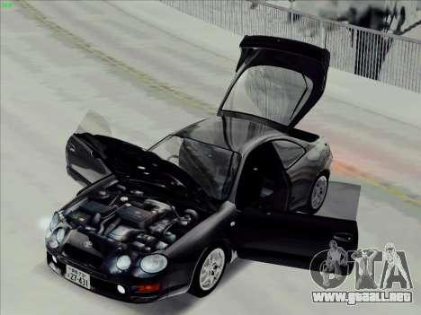 Toyota Celica GT-FOUR (ST205) para GTA San Andreas vista posterior izquierda