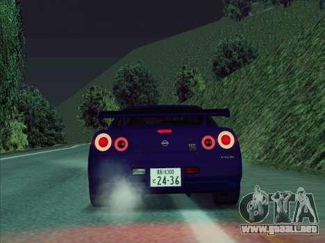 Nissan Skyline GT-R V-Spec (BNR34) para la visión correcta GTA San Andreas