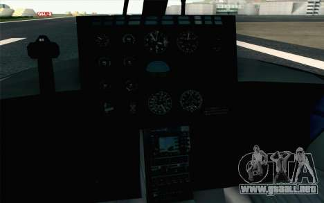 NFS HP 2010 Police Helicopter LVL 2 para GTA San Andreas vista hacia atrás