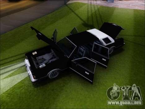 New Virgo para GTA San Andreas vista hacia atrás