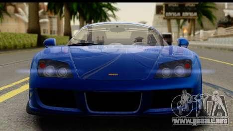 Noble M600 2010 FIV АПП para GTA San Andreas vista posterior izquierda