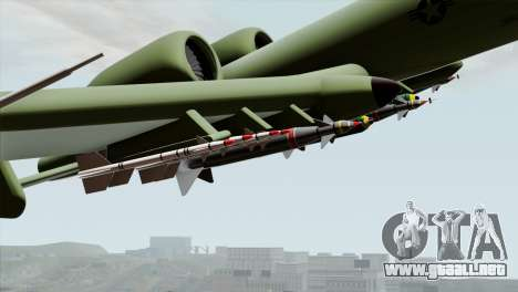 A-10 Warthog Shark Attack para la visión correcta GTA San Andreas
