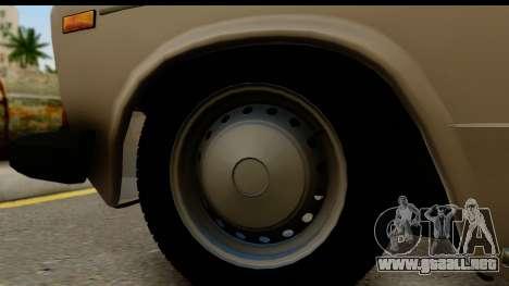 ВАЗ 2106 Baja Clásico para GTA San Andreas vista hacia atrás