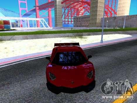 Lamborghini Aventador Novitec Torado para visión interna GTA San Andreas