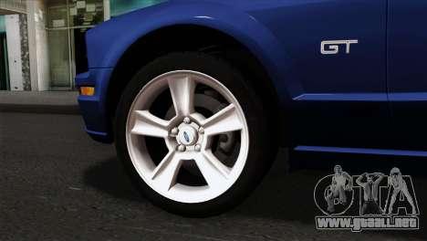 Ford Mustang GT PJ Wheels 1 para GTA San Andreas vista posterior izquierda