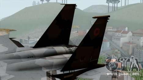 F-15E Yellow Squadron para GTA San Andreas vista posterior izquierda