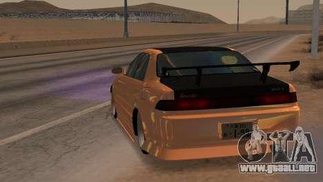 Toyota Mark II para GTA San Andreas vista hacia atrás
