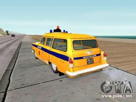 GAS 22 de la unión Soviética de la policía para GTA San Andreas vista posterior izquierda